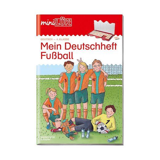 Westermann Verlag mini LÜK: Mein Deutschheft Fußball 4. Klasse, Übungsheft