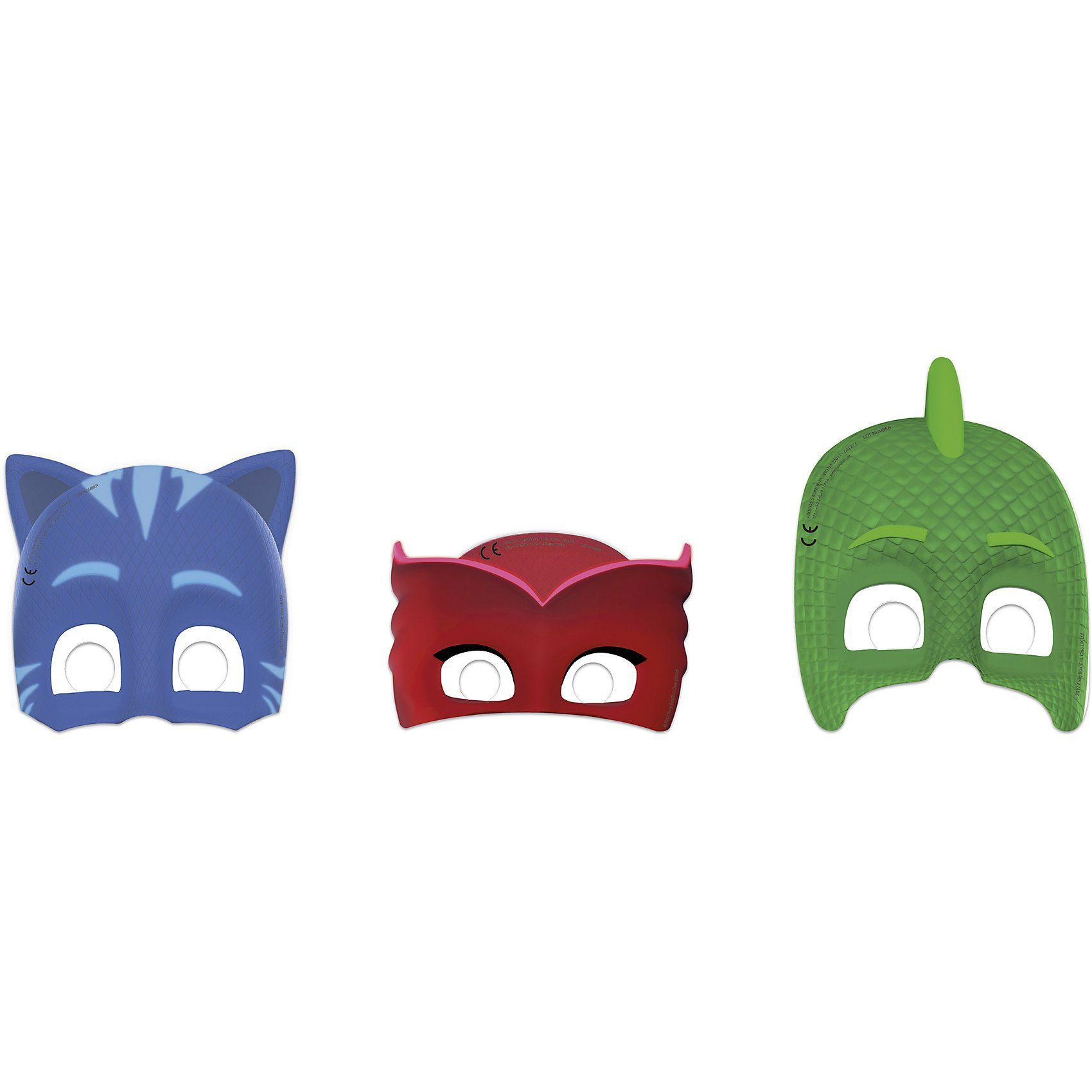 Procos Masken PJ Mask, 6 Stück