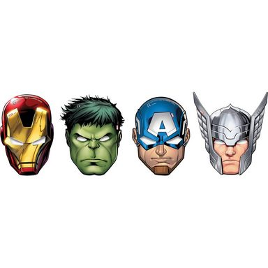 Procos Masken Mighty Avengers, 6 Stück