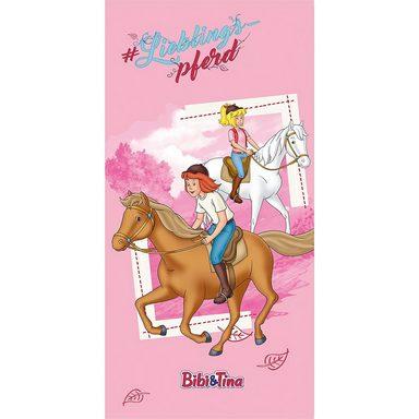 Strand- / Badetuch Bibi & Tina, Lieblingspferd, 75 x 150 cm