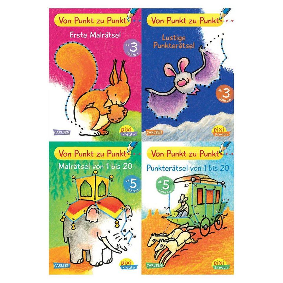 Carlsen Verlag Pixi kreativ: Von Punkt zu Punkt, 4 Bücher online kaufen
