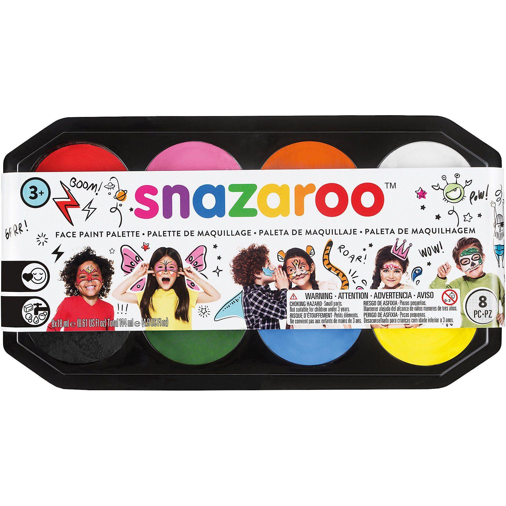 Snazaroo Jumbo Farbpalette 8x18ml