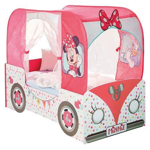 Kinderrbett de Luxe, Minnie Mouse Bus, rosa, 70 x 140 cm
