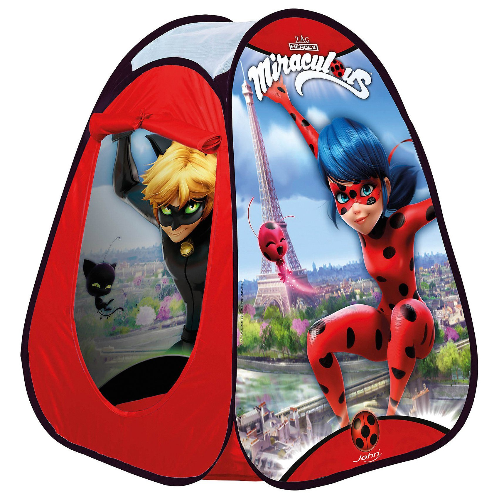 JOHN Pop Up Spielzelt Miraculous Ladybug