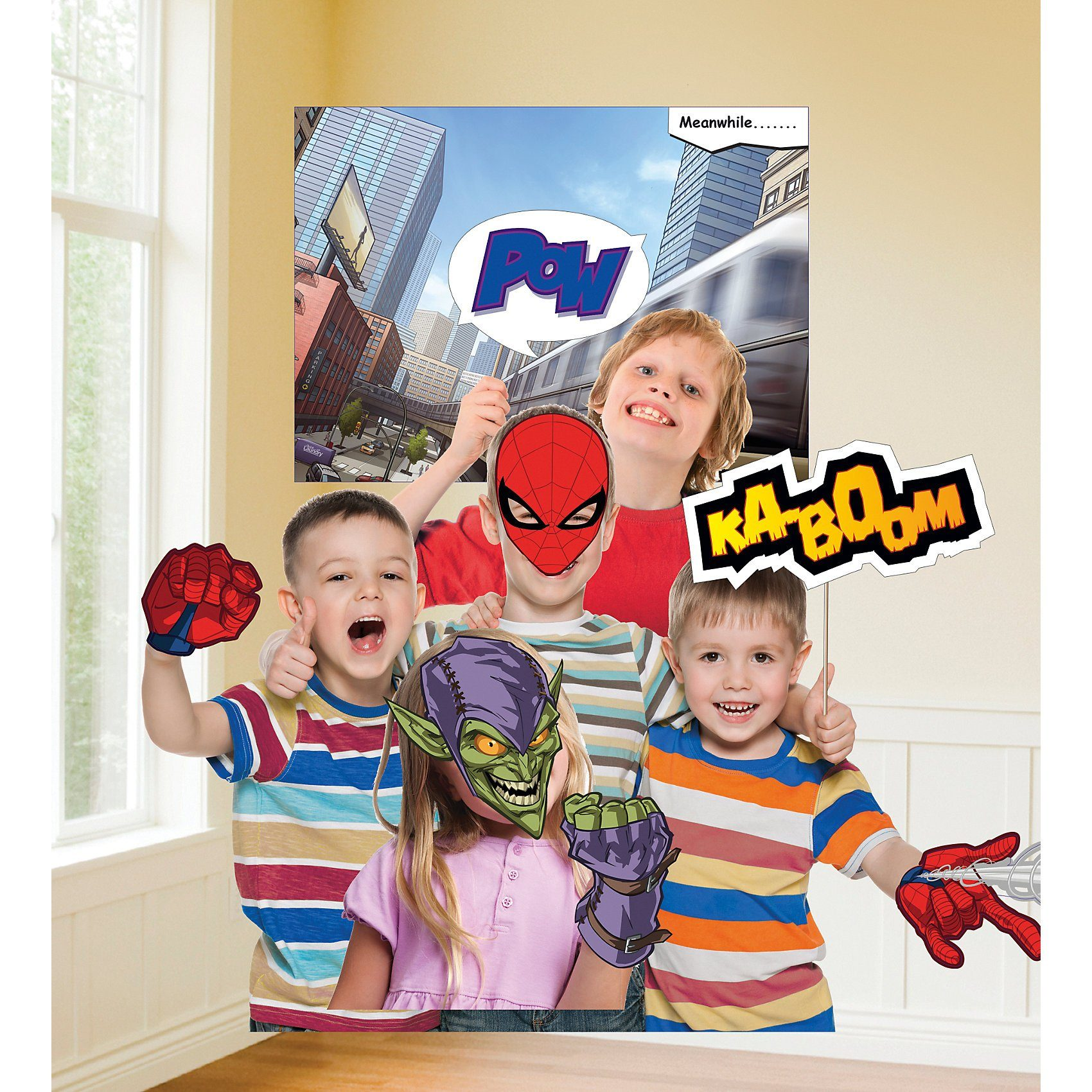 Amscan Fotorequisiten-Set Spider-Man, 12-tlg.