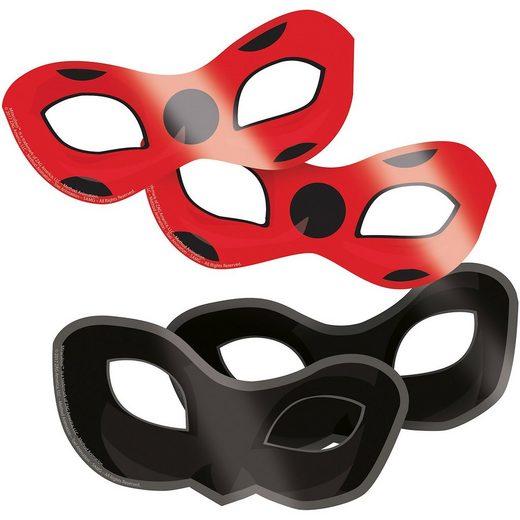 Amscan Masken Miraculous, 8 Stück
