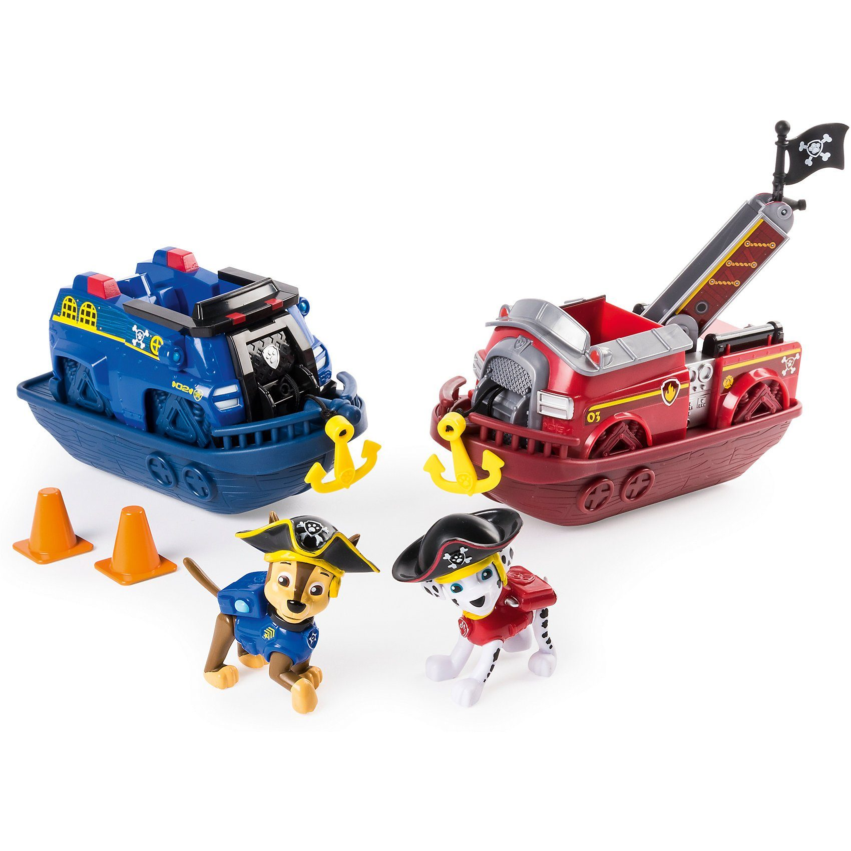 Spin Master Sea Patrol Piraten Fahrzeuge Set Chase und Marshall