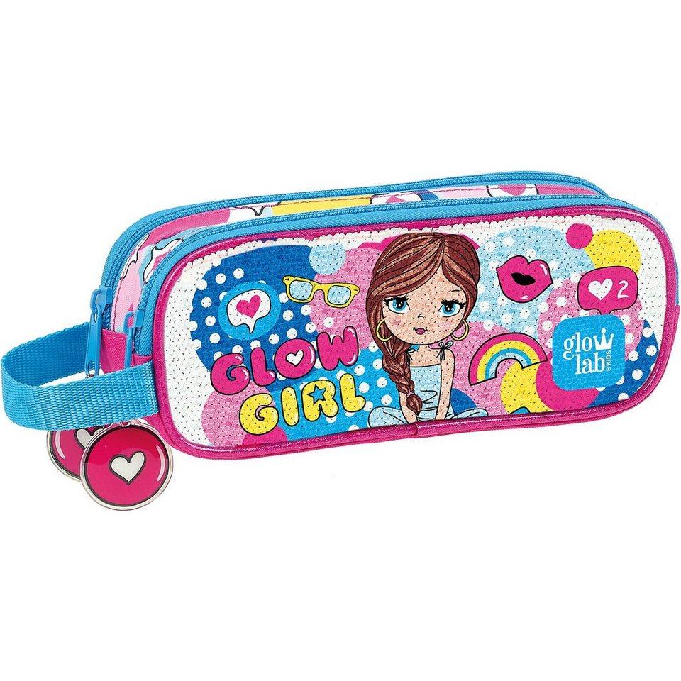 Safta Schlampermäppchen glowlab Kids Glow Girl Sequins online kaufen