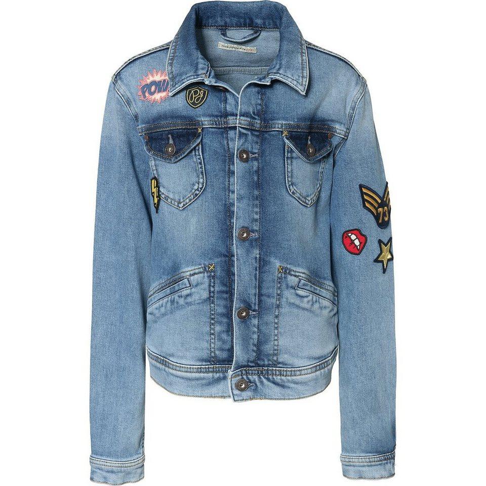 Pepe Jeans Jeansjacke NEW BERRY THROWBACK mit Patches für Mädchen ... f13184edb6