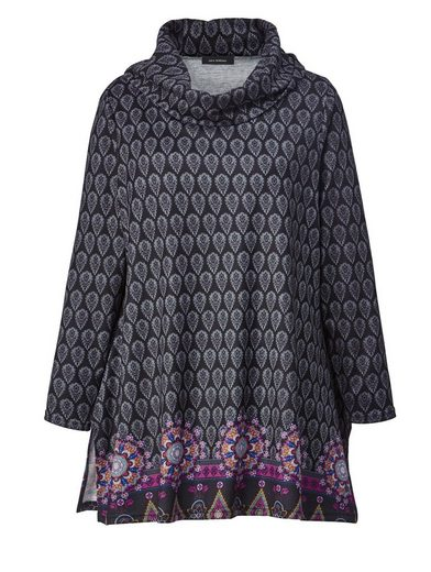Sara Lindholm by Happy Size Pullover mit Allover-Print