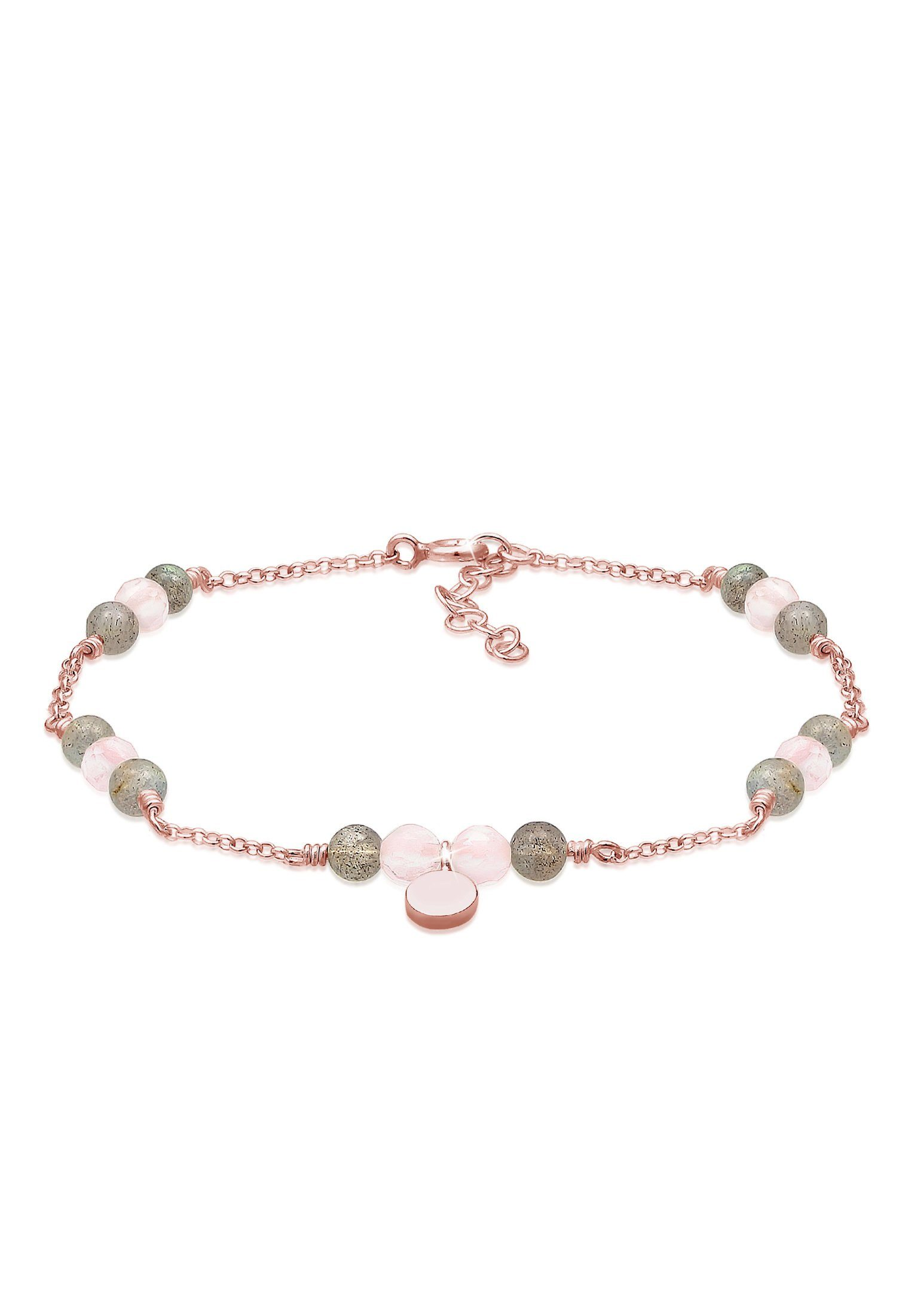 Elli Armband »Erbskette Labradorit Quartz Kugel Bead 925 Silber«