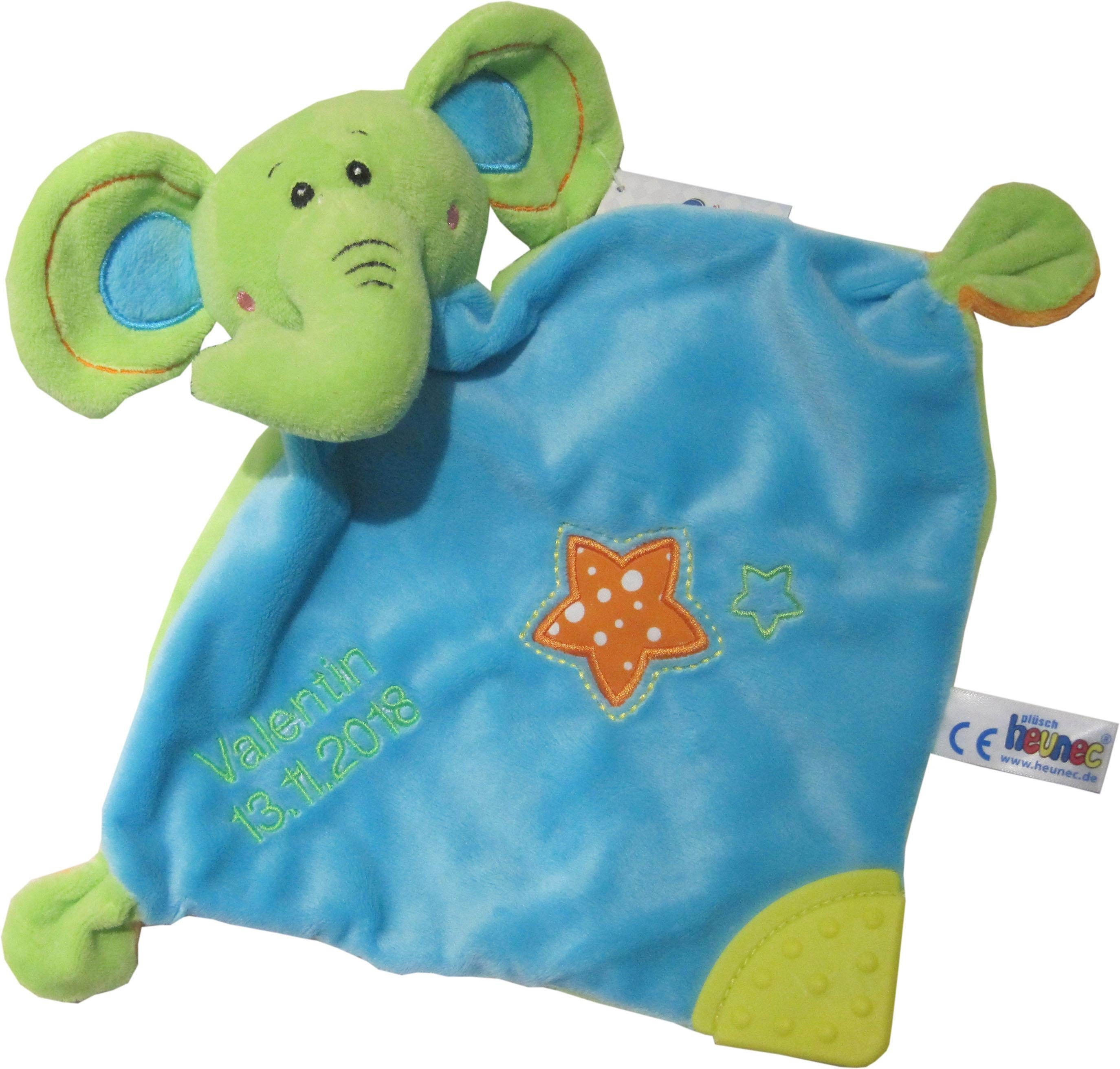 Heunec Schnuffeltuch mit individueller Stickung, »Elefant«