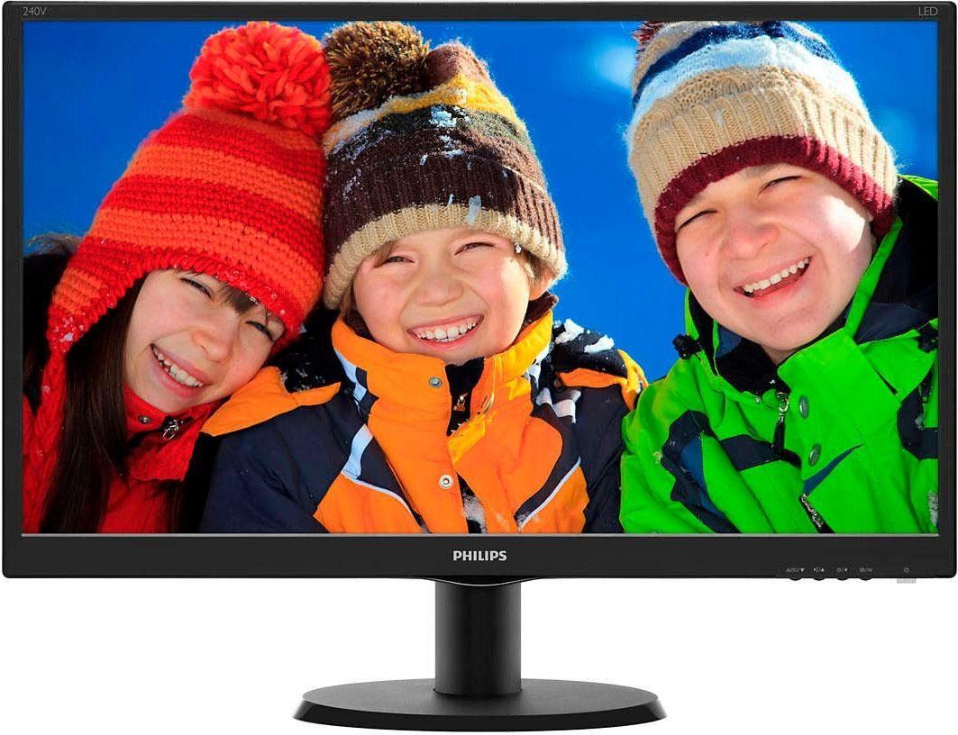 Philips 240V5QDAB TFT-Monitor (1920 x 1080 Pixel, Full HD, 5 ms Reaktionszeit)