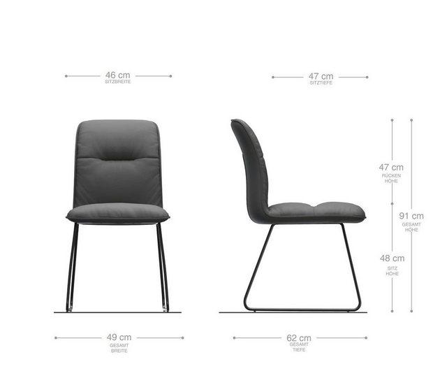 Stühle und Bänke - DELIFE Esszimmerstuhl Vinjo Flex Polsterstuhl  - Onlineshop OTTO