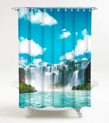 SANILO Duschvorhang »Wasserfall«, 180 x 180 cm