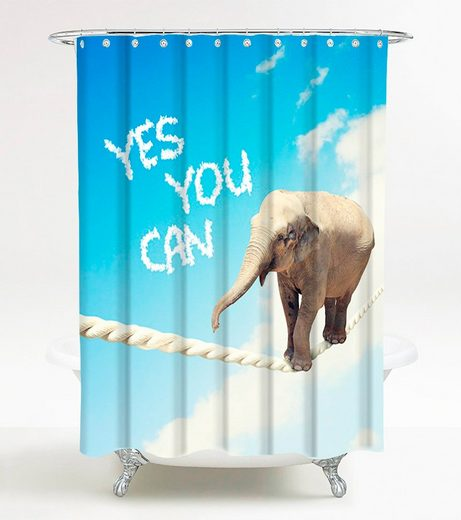 SANILO Duschvorhang »Yes you can«, 180 x 180 cm
