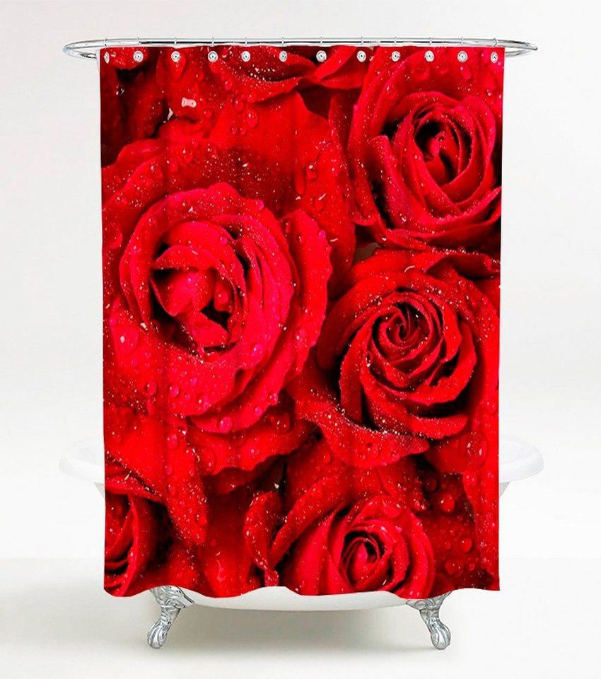 sanilo duschvorhang rosen 180 x 200 cm kaufen otto. Black Bedroom Furniture Sets. Home Design Ideas