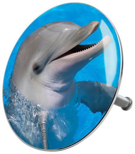 SANILO Stöpsel »Delphin«, für Badewannen und Duschen, Ø 7,2 cm