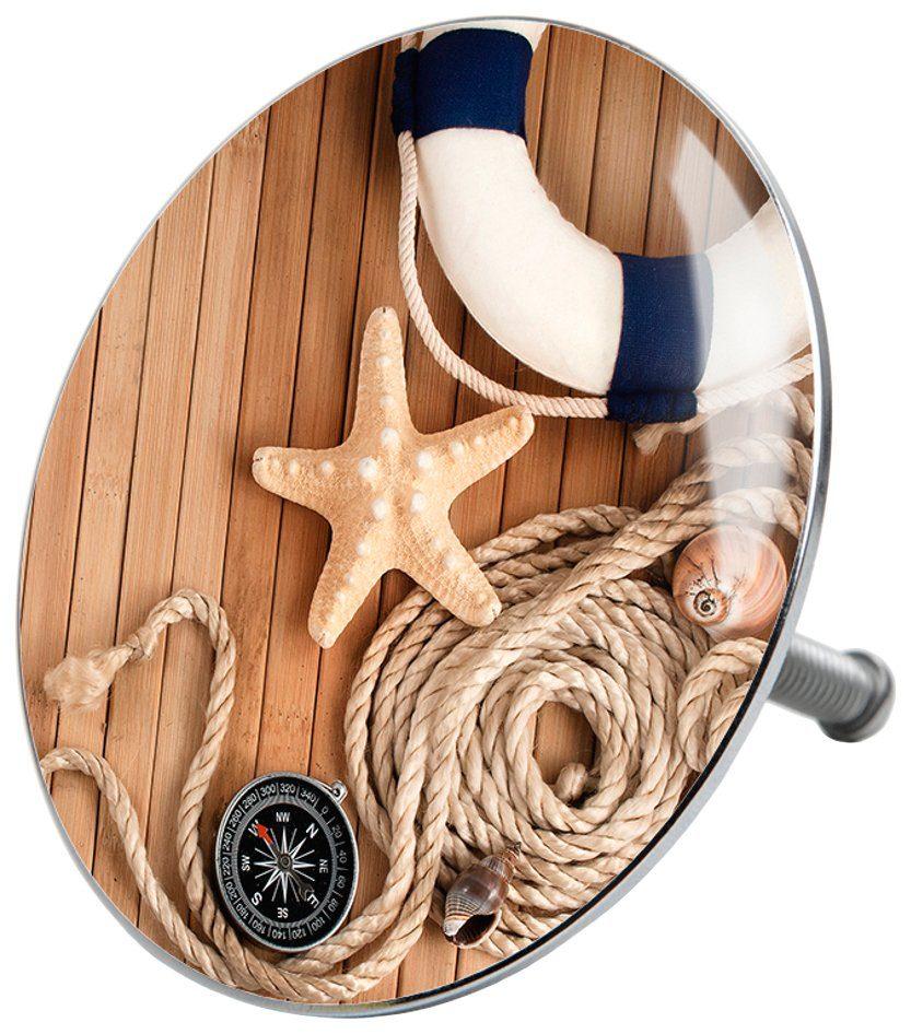 SANILO Stöpsel »Maritime«, für Badewannen und Duschen, Ø 7,2 cm