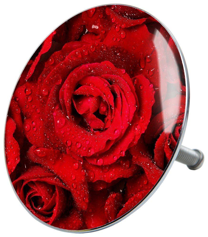 SANILO Stöpsel »Rosen«, für Badewannen und Duschen, Ø 7,2 cm