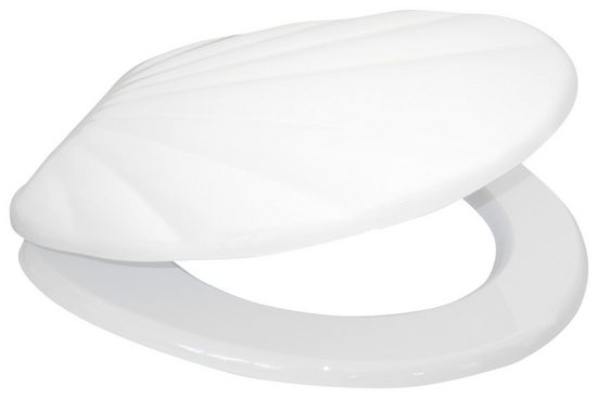 SANILO WC-Sitz »Muschel Weiß«, mit Absenkautomatik
