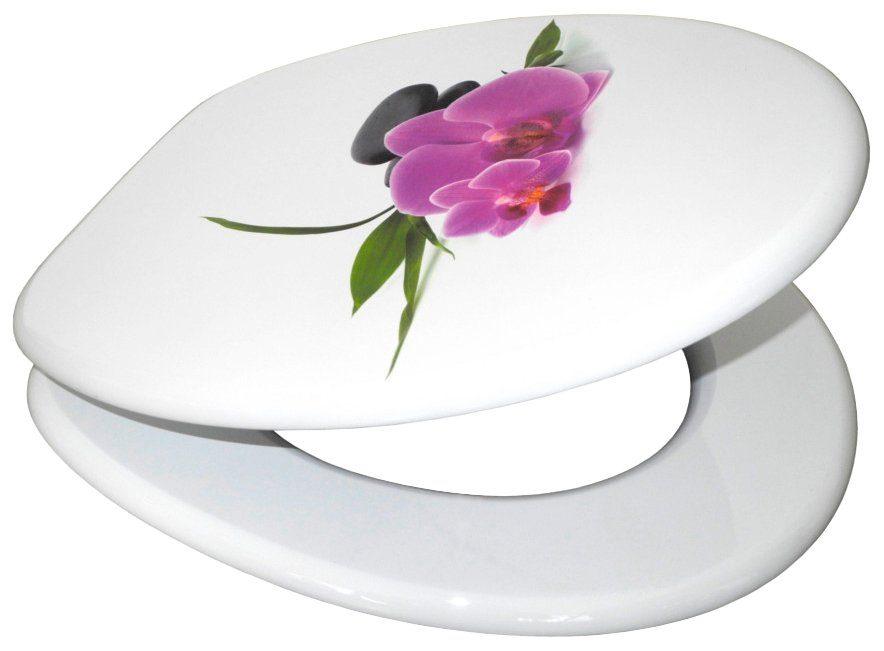 SANILO WC-Sitz »Orchidee«, mit Absenkautomatik