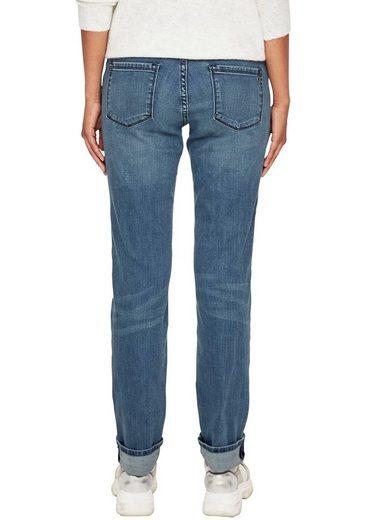 s.Oliver Gerade Jeans »smart straight« mit markanten Steppungen an den Eingriffstaschen