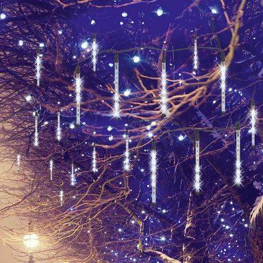 EASYmaxx LED Leuchte Meteorit 8er Set, weiß