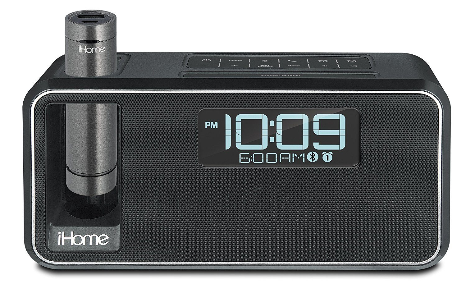 Ihome Dual Charge Bluetooth NFC Stereo-Wecker mit USB-Anschluss