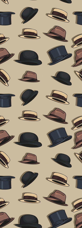 QUEENCE Vinyltapete »Hats«, 90 x 250 cm, selbstklebend
