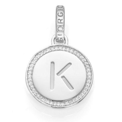 GIORGIO MARTELLO MILANO Buchstabenanhänger »Buchstabe K mit Zirkonia, Silber 925«