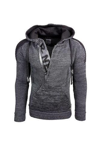 Пуловер с капюшоном в auffälligen...