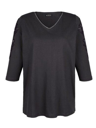 m. collection Shirt aus reiner, weicher Baumwolle