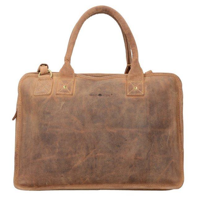 Damen Greenburry Vintage Aktentasche Leder 41 cm Laptopfach  | 04047546164526