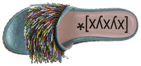 Xyxyx Xyxyx Mit Zierperlen Pantolette Pantolette Bunten Zierperlen Mit Bunten Izzawq5W6