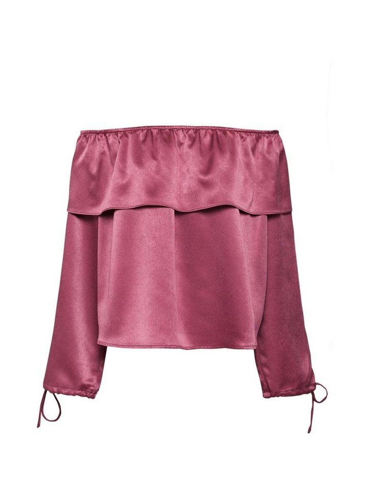 Glamorous Seidentunika »Blouse« Volant | Bekleidung > Tuniken > Seidentuniken | Rosa | Glamorous