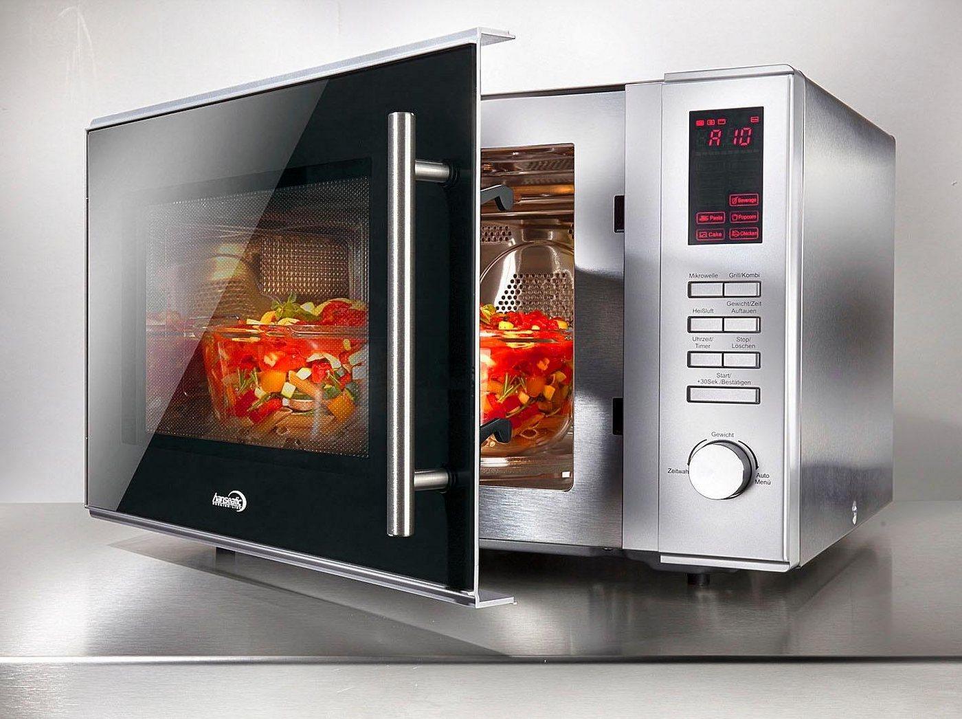 *Hanseatic Mikrowelle AC930AHZ, 900 W, mit Grill und Heißluft*