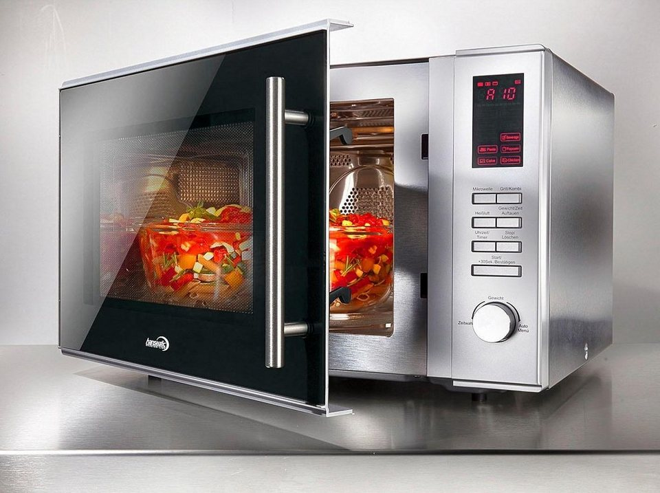 Elegant Hanseatic Mikrowelle AC930AHZ, 900 W, Mit Grill Und Heißluft