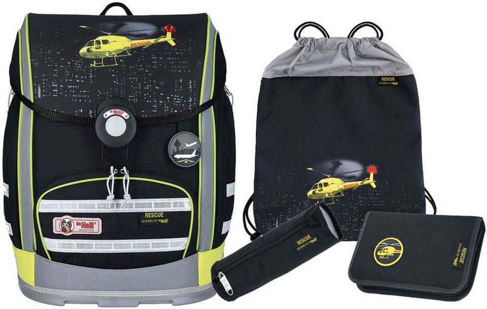 McNeill Schulranzen Set (4-tlg.) mit Blinklicht auf dem Überschlag,  ERGO EXPLORER, Rescue  online kaufen