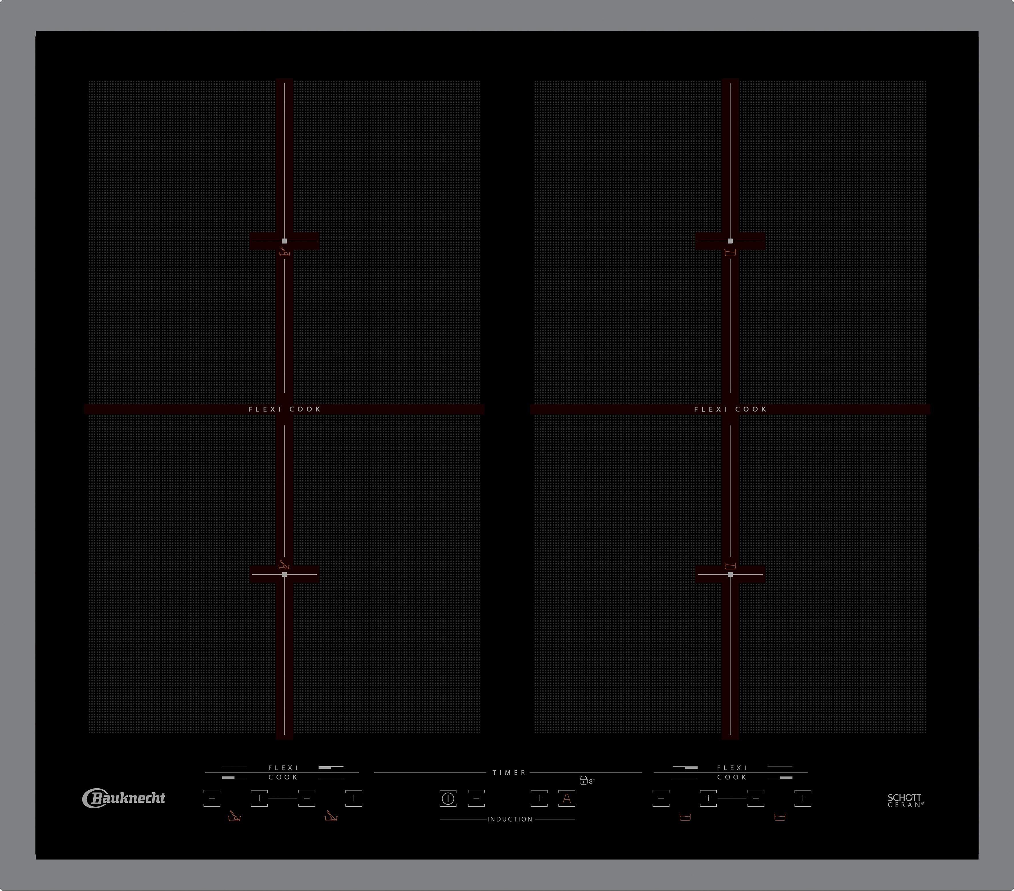 BAUKNECHT Flex-Induktions-Kochfeld CTAI 9640FFS IN, mit Schmelz- und Köcheln-Funktion