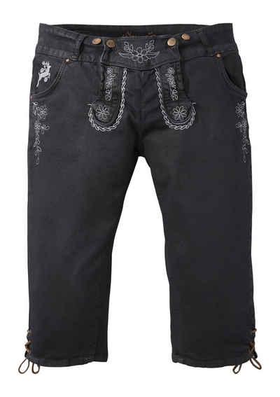 Hangowear Trachtenhose 3 4 Damen mit seitlicher Beinschnürung 7d80b07f9b
