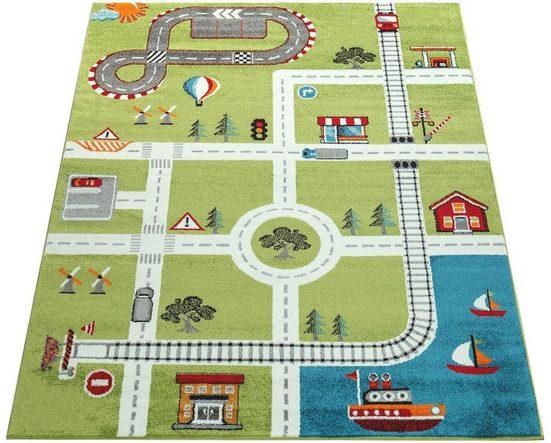 Kinderteppich »ECE Straße 994«, Paco Home, rechteckig, Höhe 14 mm, Kurzflor, Straßen-Spielteppich