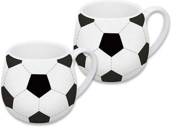 Könitz Becher »Fußball« (2-tlg), Porzellan, 420 ml