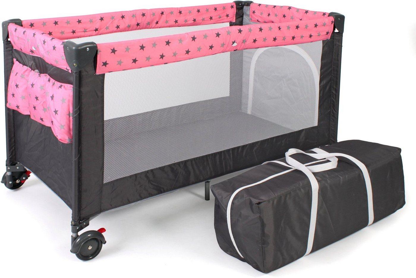 Babybetten - CHIC4BABY Baby Reisebett »Luxus, pink«  - Onlineshop OTTO
