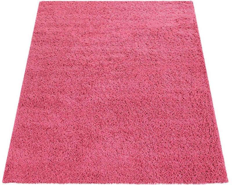 Hochflor-Teppich »Sky 250«, Paco Home, rechteckig, Höhe 35 mm, gewebt, Uni Farben, intensive Farbbrillanz, Wohnzimmer