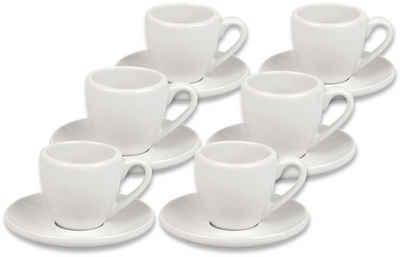 Könitz Espressotasse »Coffeebar«, Porzellan, 6 Tassen, 6 Untertassen