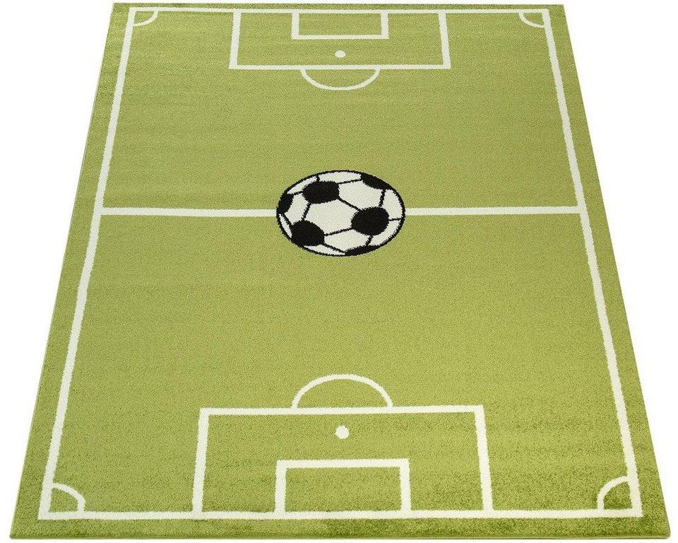 Kinderteppich Ece Fussball 953 Paco Home Rechteckig Hohe 14 Mm Kurzflor Kinder Fussball Spielteppich Online Kaufen Otto
