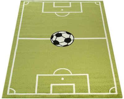 Kinderteppich »ECE Fussball 953«, Paco Home, rechteckig, Höhe 14 mm, Kurzflor, Motiv Fußballfeld, Spielteppich, Kinderzimmer