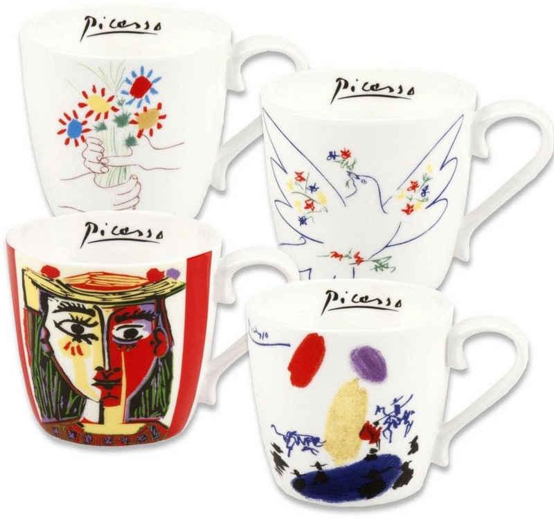 Könitz Becher »Picasso«, Fine China-Porzellan, 425 ml, 4-teilig