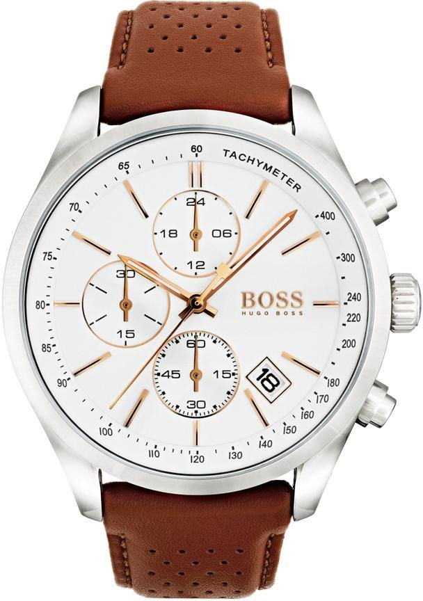 Herren Boss  Chronograph GRAND PRIX 1513475 braun | 07613272231084
